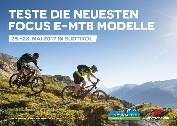Teste die neuesten Focus E-Mountainbike (MTB) Modelle mit Shimano Steps 8000 in Südtirol / Sexten / Naturns / Meran / Bruneck und Brixen