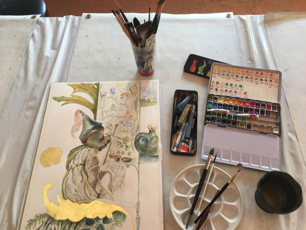 cours d'aquarelle Aix en Provence -Eguilles- Bouc bel air - Ventabren - Puyricard - Les Milles