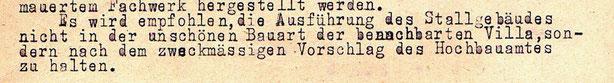 """1926 die """"unschöne Bauart"""" der Villa"""