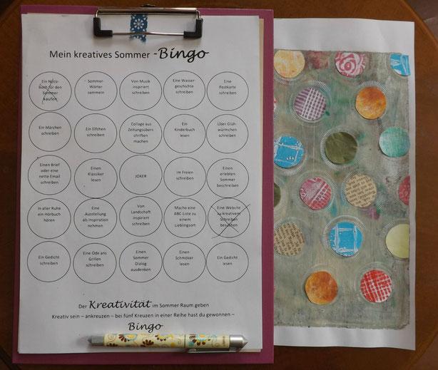 der Kreativität Raum geben - Sommer-Bingo