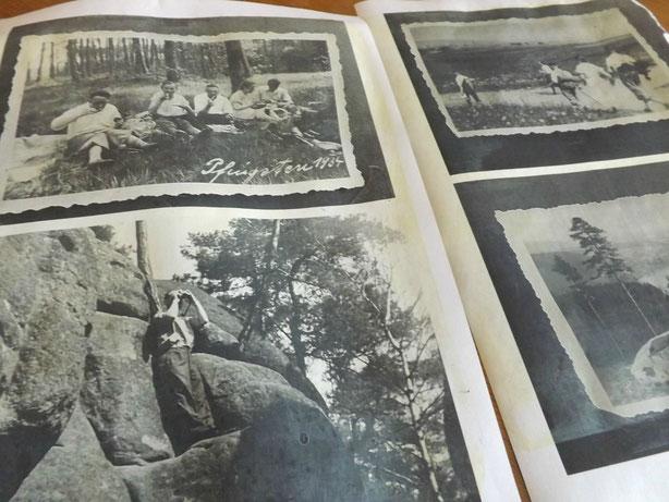 Die ausgedruckten Fotos schon mit Sepia überzogen
