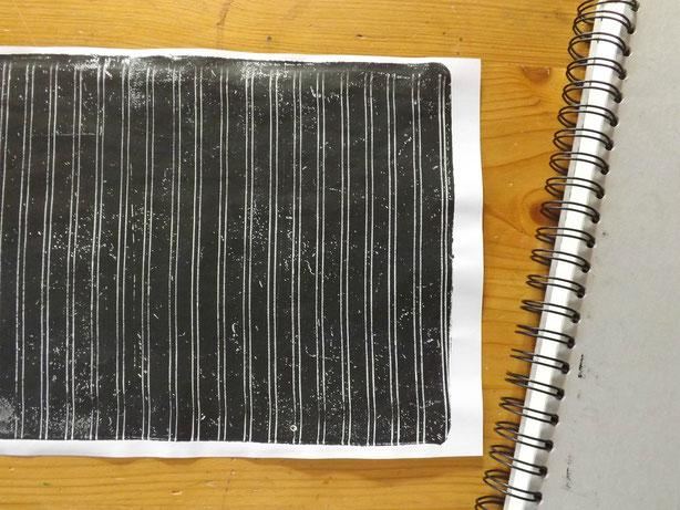 Spiralen vom Skizzenbuch hinterlassen schöne Spuren.