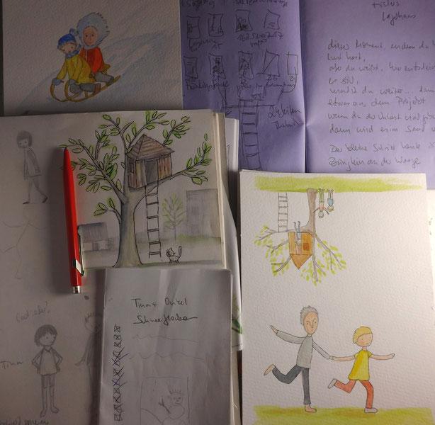 Entwürfe, Skizzen, Notizen ... auf dem Weg zum Buch