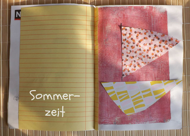Sommerzeit Sketchbook Collage