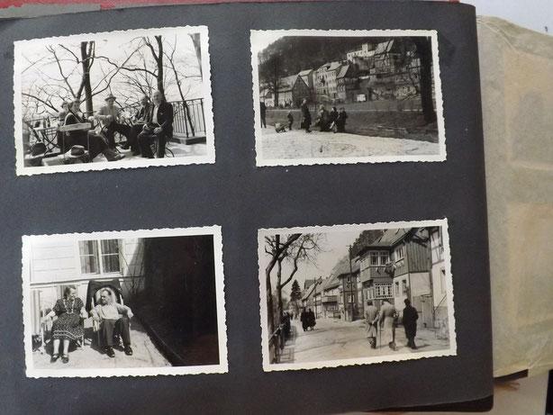 Fotoalbum vier Bilder, das Päärchen im Liegestuhl habe ich verwendet