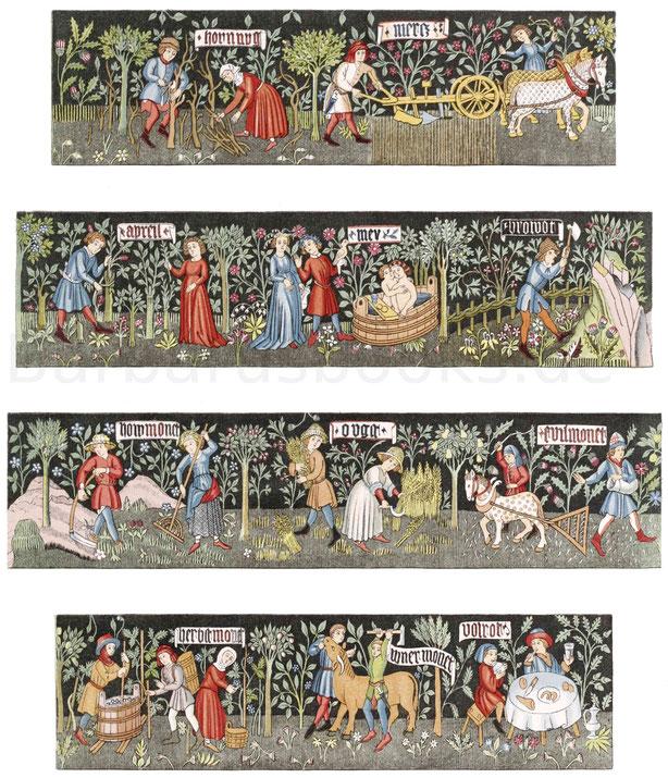 In Wolle gewirkter Teppich aus der zweiten Hälfte des 15. Jahrhunderts.