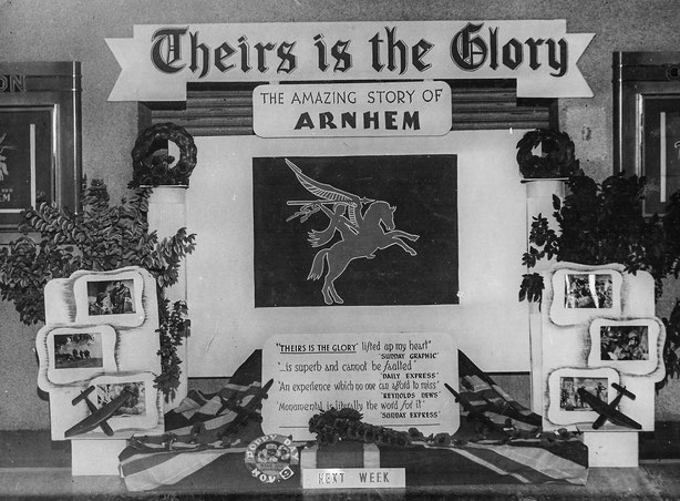 Display made by Reg Godsave in the foyer of the Odeon, Eltham Hill in 1946.                                    (click on the picture to start the move)