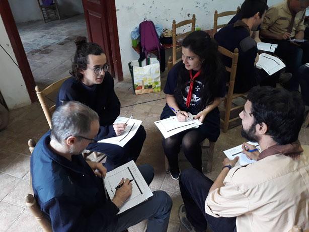 Les jornades van incloure diverses dinàmiques de grup. FOTO: Pau Artés