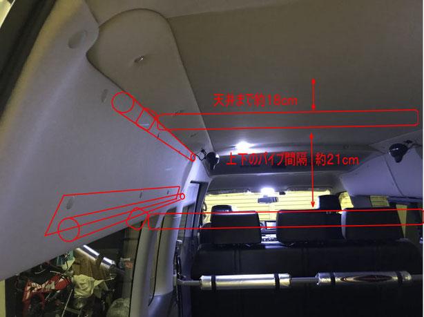 NV350キャラバンにボードラックを取り付けます