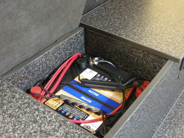 NV350にサブバッテリーキットを取り付けました