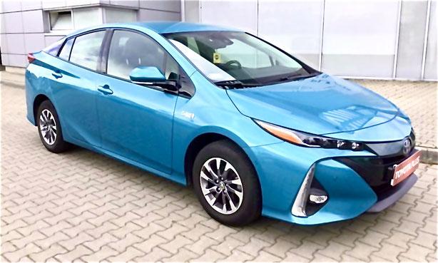 Blaues Hybrid Auto