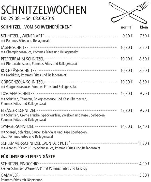 Schnitzelwoche - Kelterschänke Elsenfeld