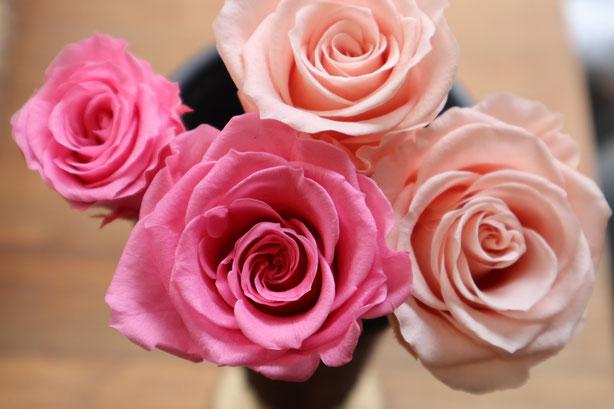 プリザーブドフラワーの花束ができるまで 花の開花 GREEN'S TALE