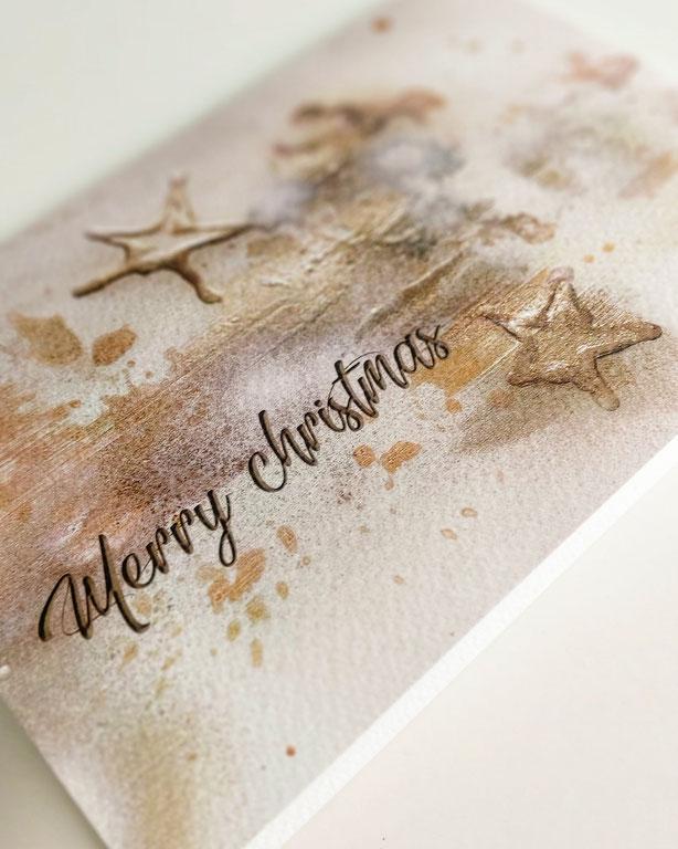 Geschäftliche Weihnachtskarte mit sozialem Hintergrund