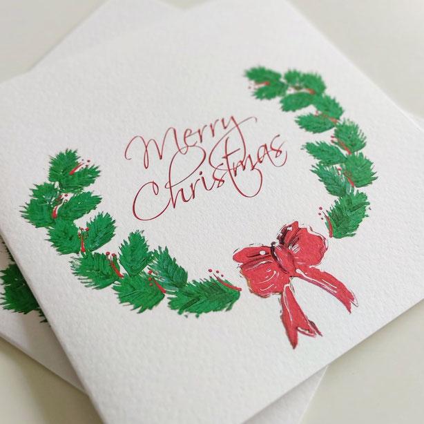 nARTura Spendenkarte zu Weihnachten mit traditionellem Sujet modern umgesetzt