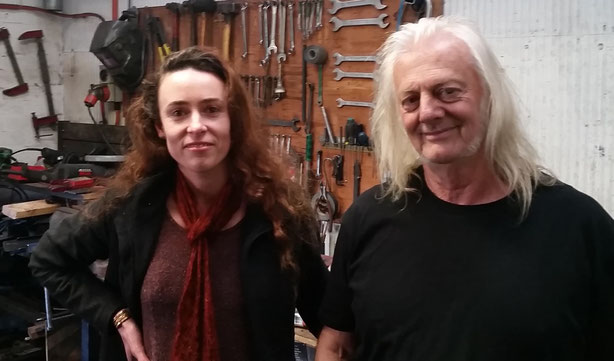 Me with Stephen Twohig from Fitzroy Etching Presses