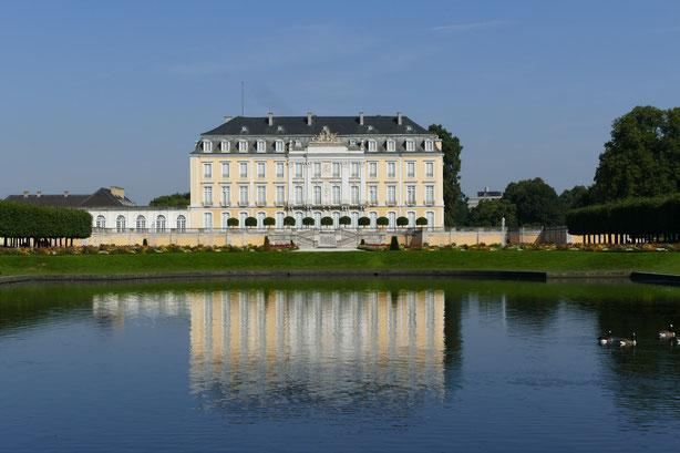 Gartenreise Deutschland :Der Park von Schloss Augustusburg in Brühl