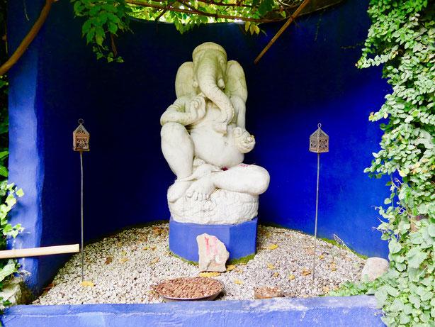 Ganesha, Skulptur in garden Heller, Gardone am Gardasee