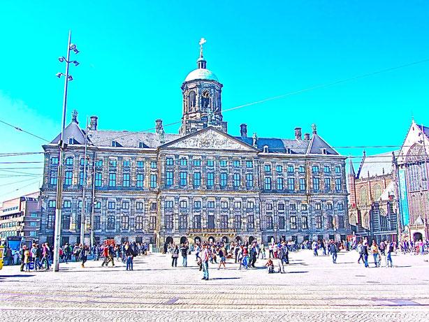 Rathaus un d Regierungssitz des Königs in Amstrdam
