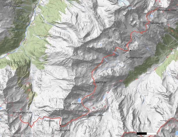 Route von der Bremerhütte zur Innsbruckerhütte - Steinbockparadies entlang der Habicht Südseite