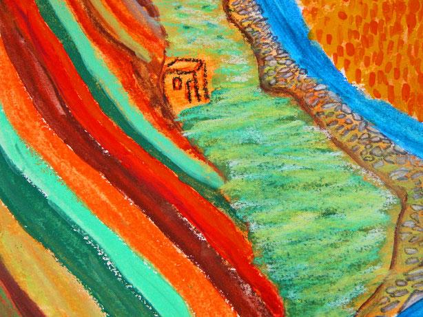 @ateliereifach.ch-canyon-Kunstbild-Kunstkarte-rot-erdtöne-Landschaft