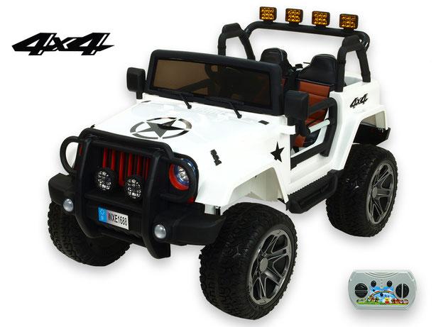Jeep Wrangler 4WD/Allrad/Kinderauto/ Kinder Elektroauto/Kinderautos/ Kinder Elektroautos/Kidcars/lizensiert/2 Sitzer/weiss/