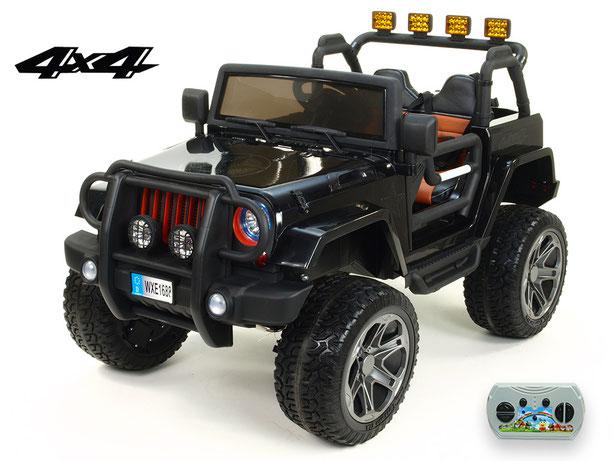 Jeep Wrangler 4WD/Allrad/Kinderauto/ Kinder Elektroauto/Kinderautos/ Kinder Elektroautos/Kidcars/lizensiert/2 Sitzer/schwarz/