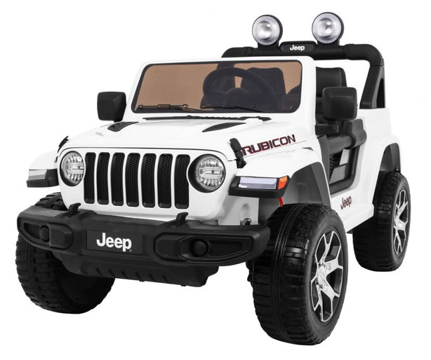 Jeep Wrangler Rubicon/Allrad/Kinderauto/ Kinder Elektroauto/Kinderautos/ Kinder Elektroautos/Kidcars/lizensiert/2 Sitzer/weiß/