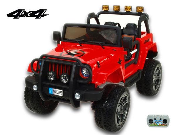 Jeep Wrangler 4WD/Allrad/Kinderauto/ Kinder Elektroauto/Kinderautos/ Kinder Elektroautos/Kidcars/lizensiert/2 Sitzer/rot/