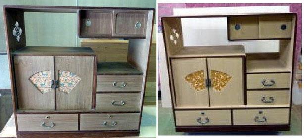 飾り棚修理例