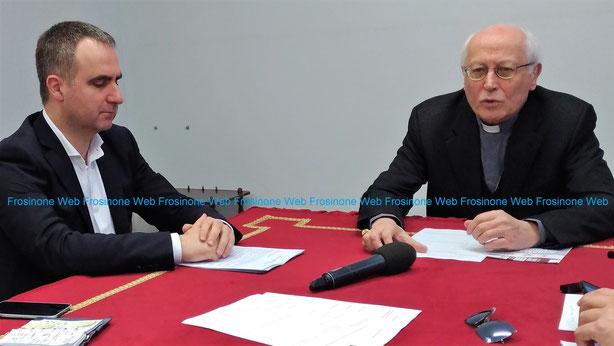 Monsignor Spreafico insieme a Marco Toti Direttore della Caritas diocesana