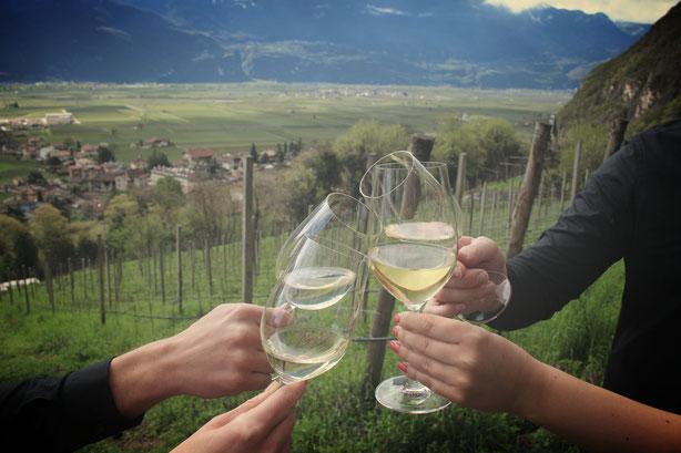 Nach der harten Arbeit darf ein Gläschen Wein zum Feierabend nicht fehlen