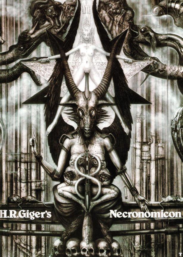 ギーガーの最初の作品集『ネクロノミコン』1977年