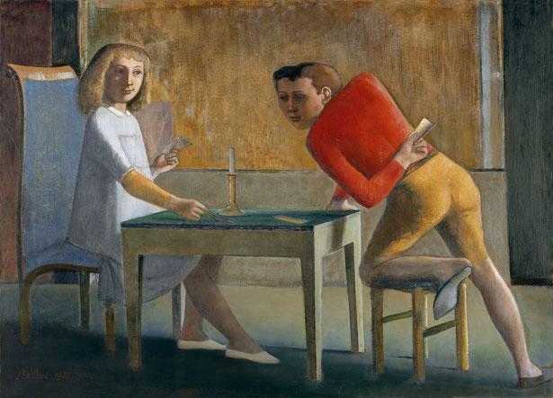 バルテュス《トランプの勝負》(1948-1950年)