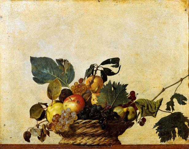 ※2:カラヴァッジョ《果物籠》(1597年)