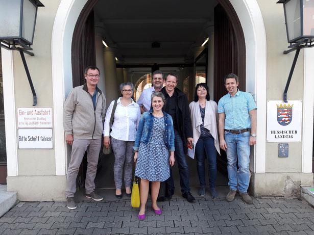 Besuch beim hessischen Landtag