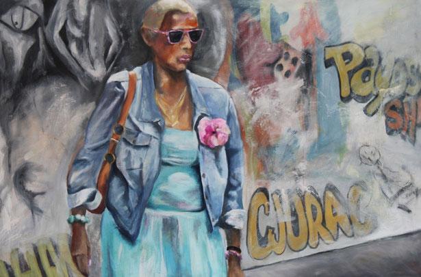 Harlem / Eitempera auf Leinwand 100 x 140