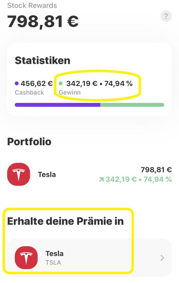 freaky finance, Vivid Karte, 40 € Bonus, Casback, Tesla