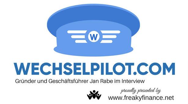 freaky finance, Interview, Jan Rabe, Wechselpilot, Gründer, Geschäftsführer, Wechselpilot Logo, Pilotenmütze, Stromanbieterwechsel