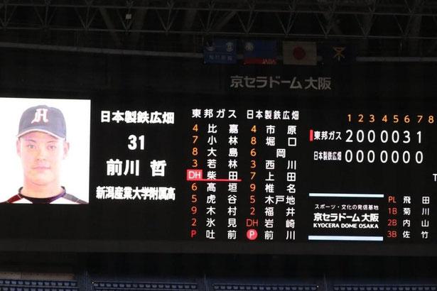 写真提供:前川哲投手