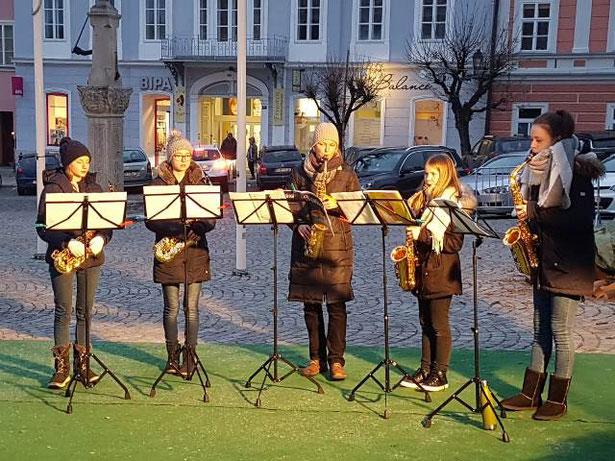 12. 12. 2019: Saxophon-Ensemble der Klassen Kerstin Juritsch, BA, und Georg Palmanshofer, MA