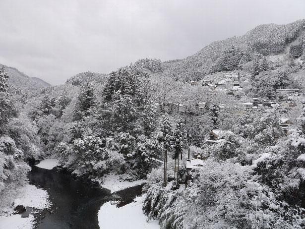 【昭和橋から見た氷川渓谷】