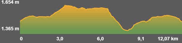 Perfil ruta senderisme TC209 Segramorta