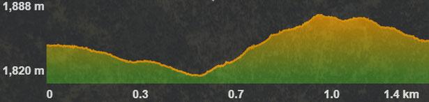 Perfil Circuit raquetes 13 Coll de La Llossa