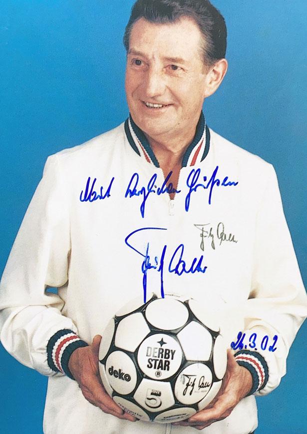 Autograph Fritz Walter Autogramm