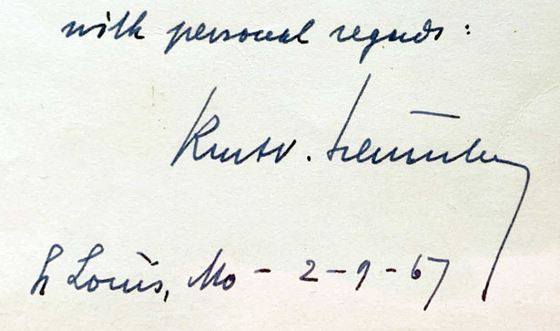 Autograph Kurt Schuschnigg Autogramm