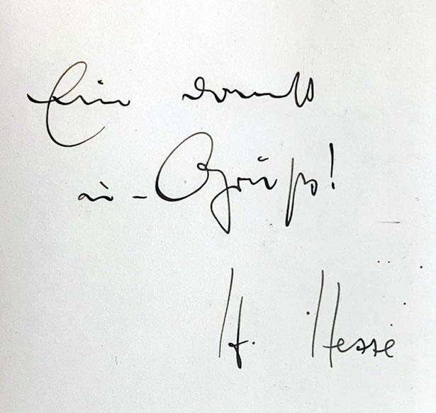 Autograph Hermann Hesse Autogramm