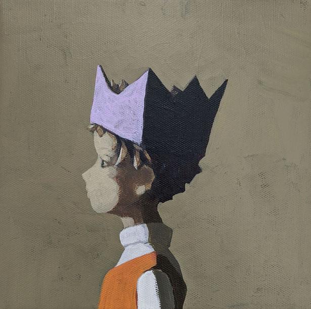 prince - Acryl auf Leinwand, 20x20cm, 2020 | verkauft