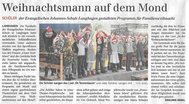 Artikel in der Schweriner Volkszeitung im Dezember 2019