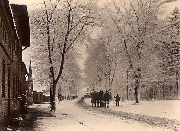 Das dritte von links ist das Haus der Gutshofgärtnerei.